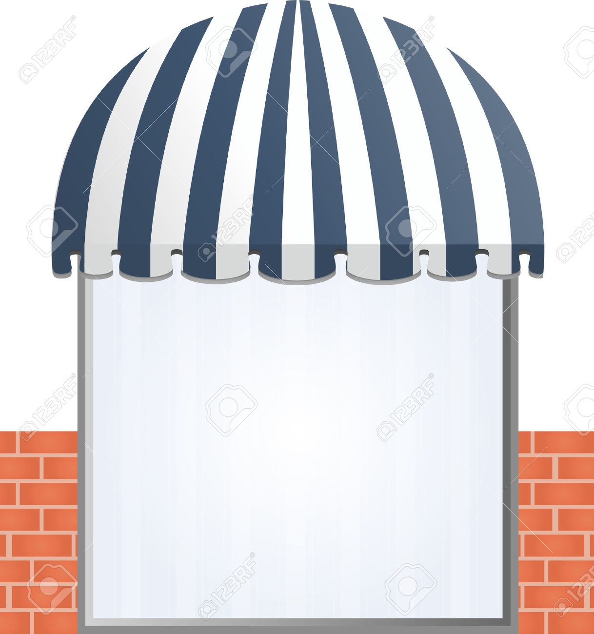 Storefront Awning In Blue Royalty Free Cliparts, Vectors, And.
