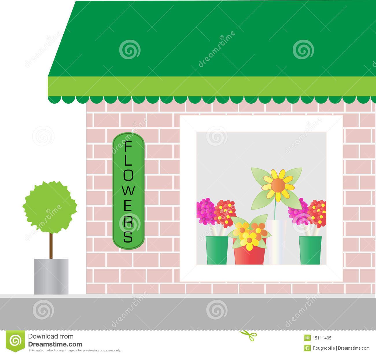 Flower Shop Window Clipart.