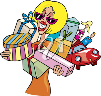 Shopaholic clipart images and royalty.