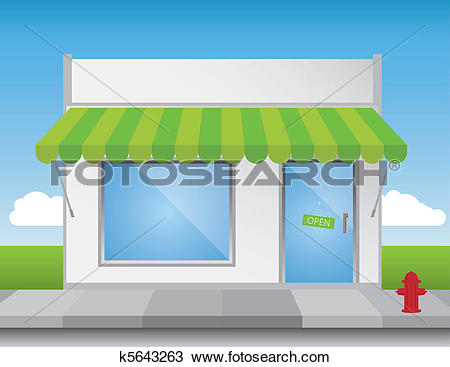 Clipart of Shop Front k5643263.