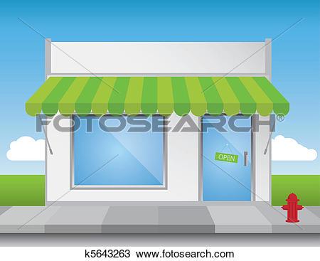 Clipart of Shop Front k5643263.