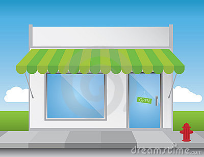 Shop Front Royalty Free Stock Photo.
