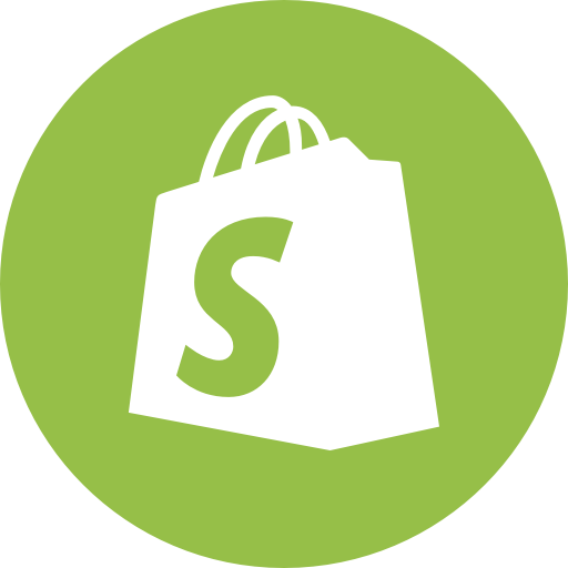 Circle, ecommerce, round icon, shopify icon.