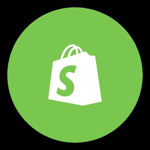 Shopify, social icon.