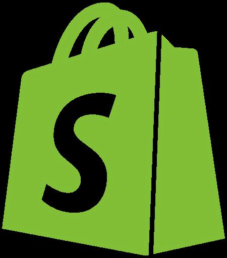 Bag, line, shopify, social, transparent icon.