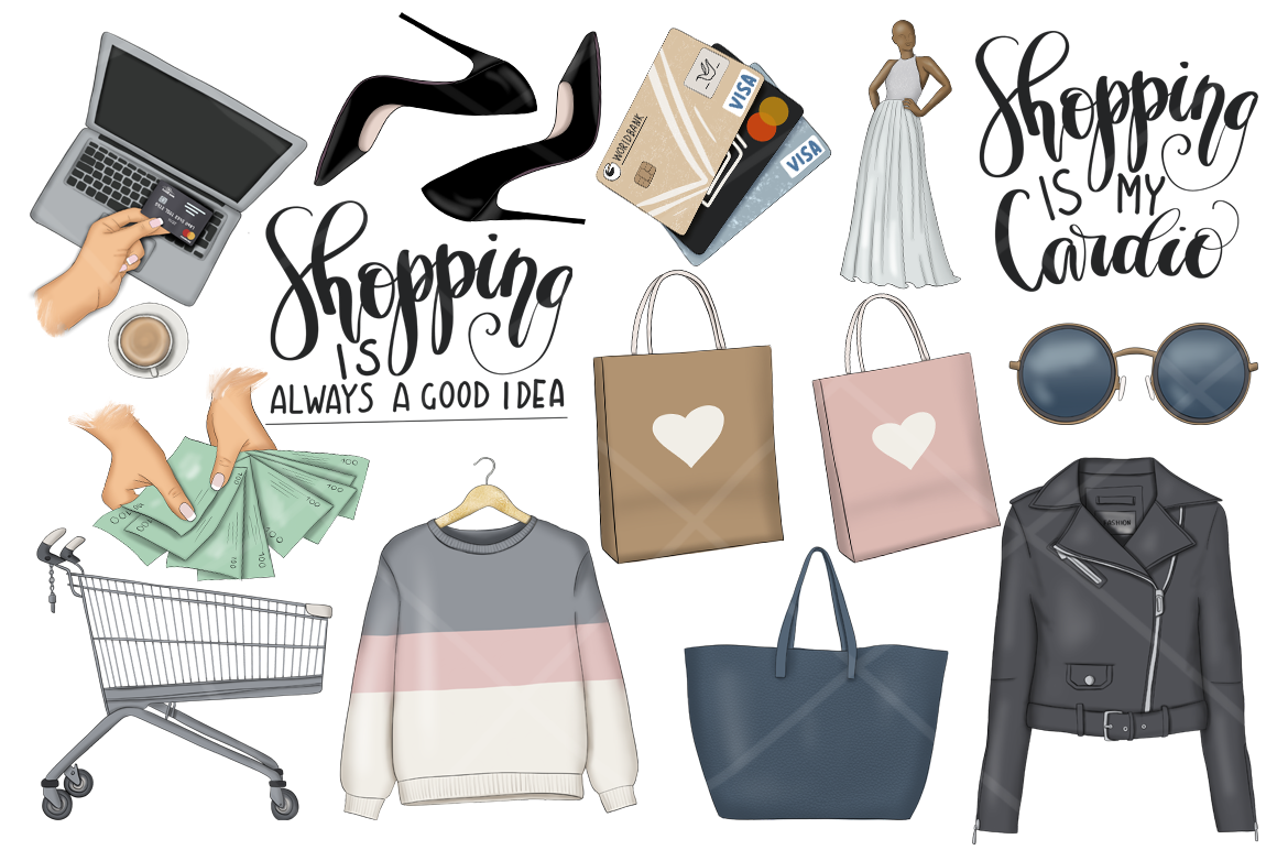 Shopping Clipart & Patterns.