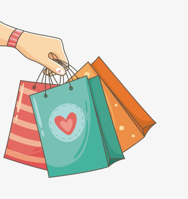 Holding Shopping Bags, Shopping Bag, Sho #7326.