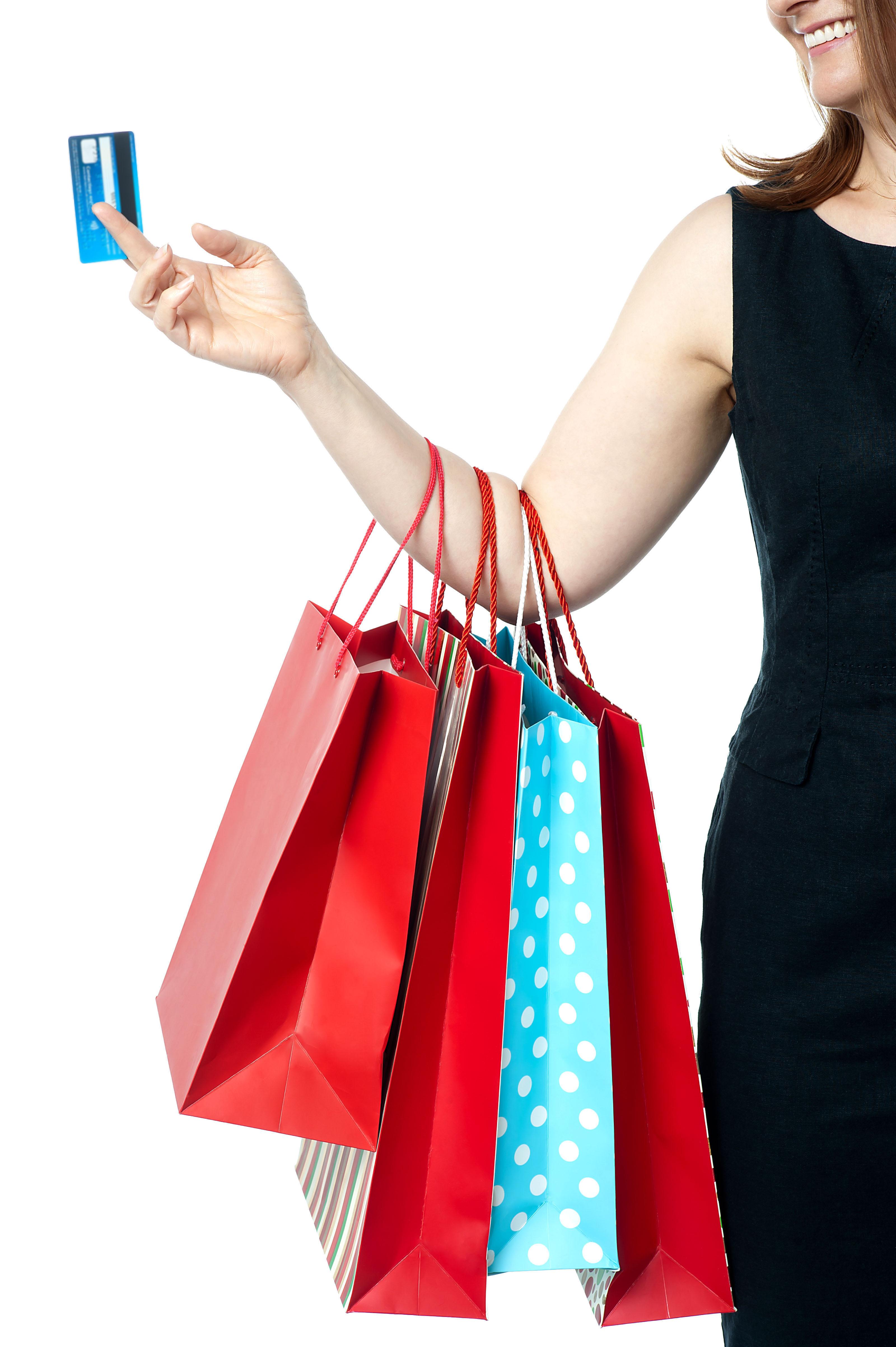 Women Shopping PNG Image.