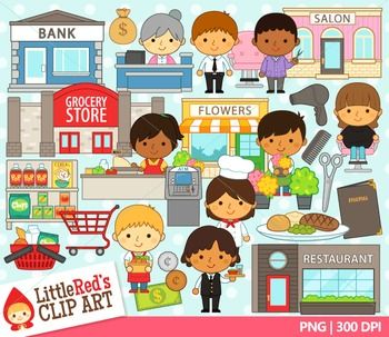 Shopkeepers Clipart.