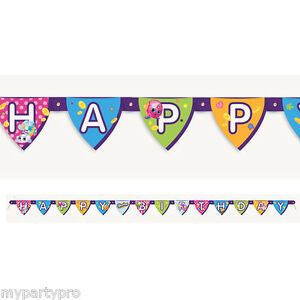 Details about Shopkins Birthday Banner 1/Pkg Birthday Party Supplies free  shipping.