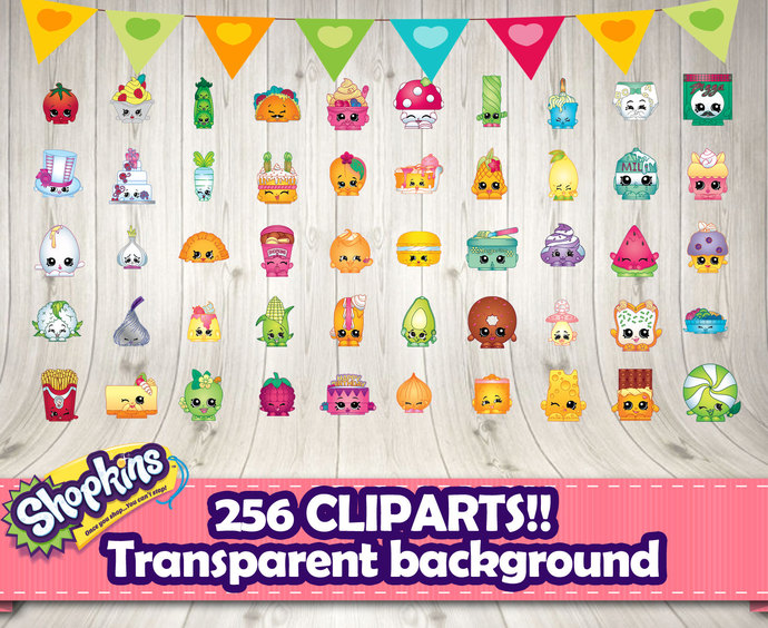 SHOPKINS CLIPART 256 differents.