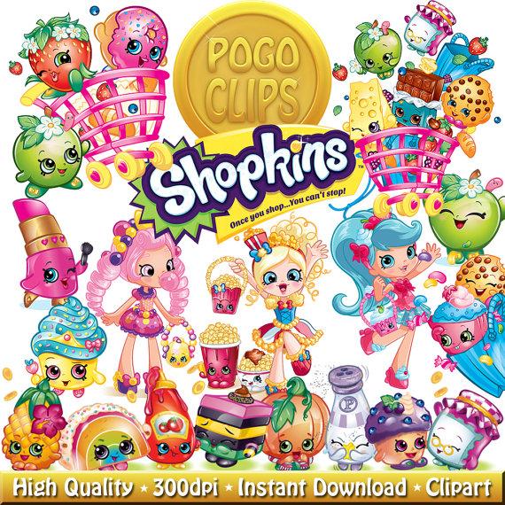 50 High quality Shopkins / Clip Art DIY Instant Download Printable.