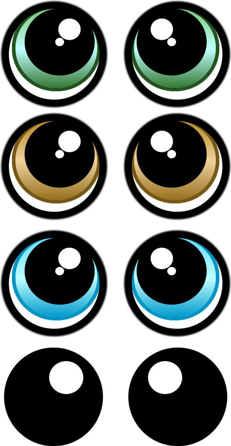 PRINT YOUR OWN Eye Stickers Template pack.