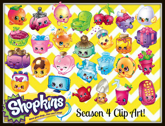 Shopkins ClipArt all seasons plus extras and by AkireJeanCreations.