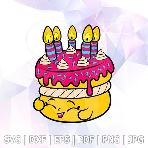 Shopkins Wishes SVG DXF Png Layered Cut Files Cricut Designs.
