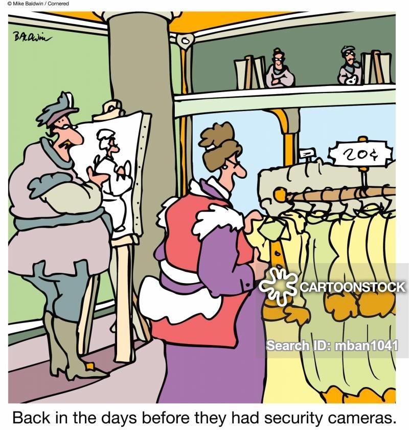 Shoplifting Cartoons and Comics.