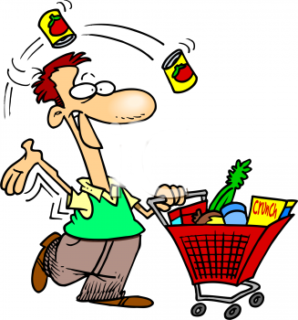 Holiday shoppers clipart.
