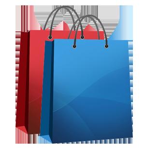 Shopping bags clipart.