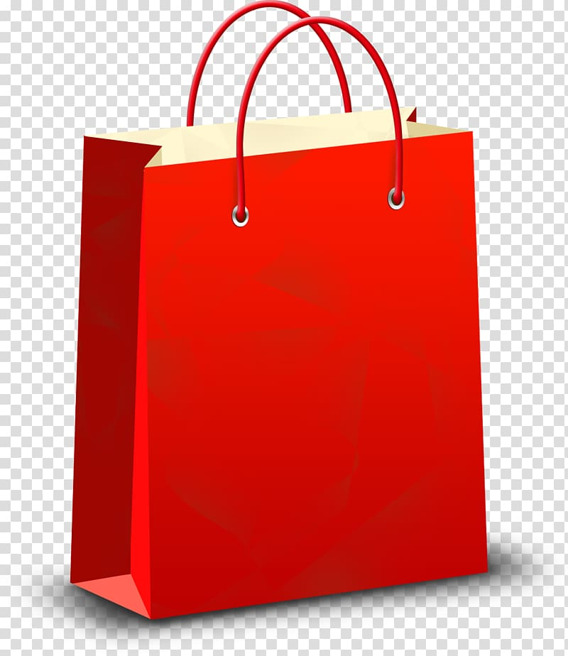 Shopping bag Icon, Paper shopping bag transparent background.