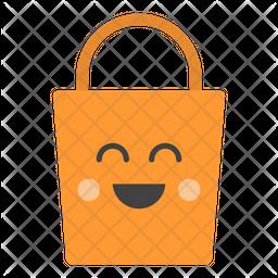 Shopping Bag Emoji Icon.