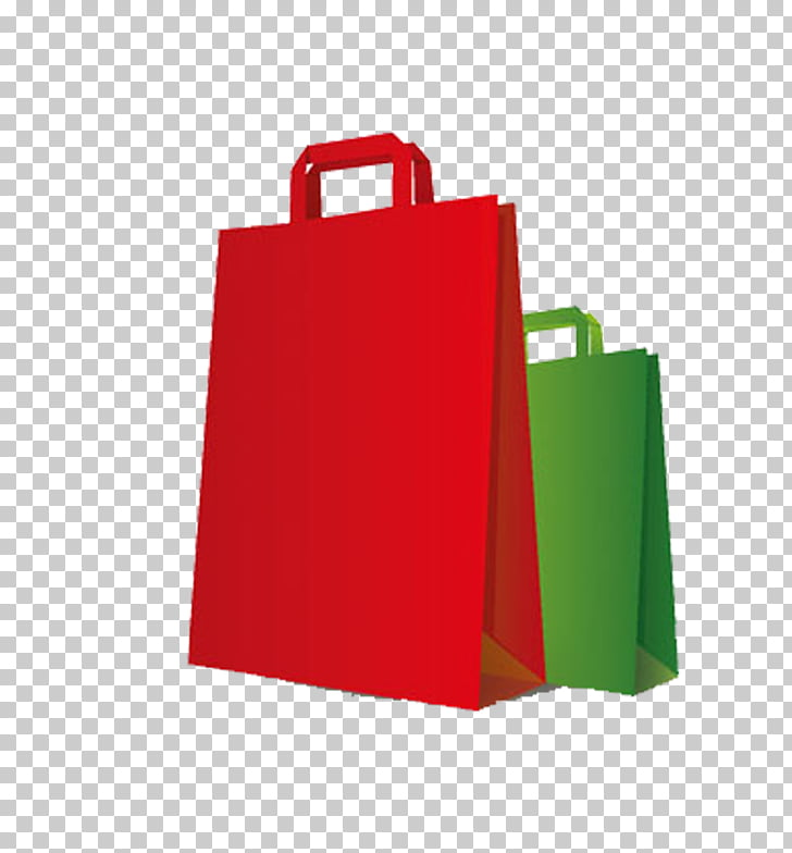 Shopping bag Icon, Red Green Bag Shopping Bag PNG clipart.