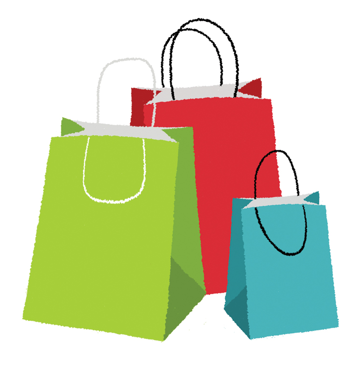 Shopping Bag Clipart Vector.