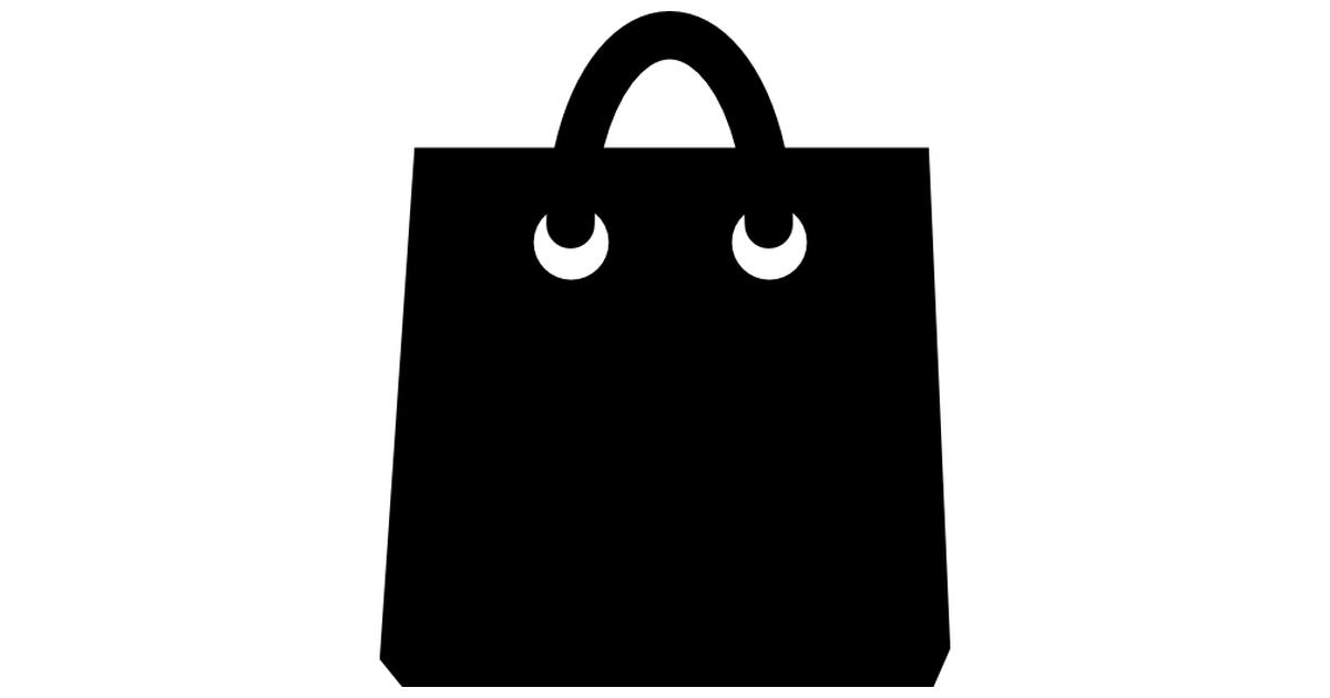 Black shopping bag tool.