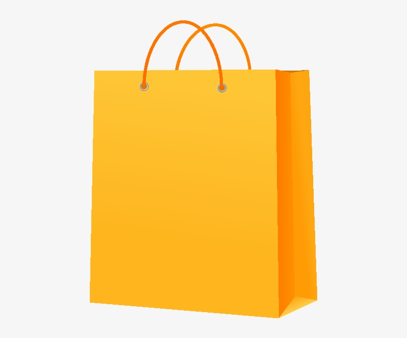 Paper Bag Yellow Vector Icon.