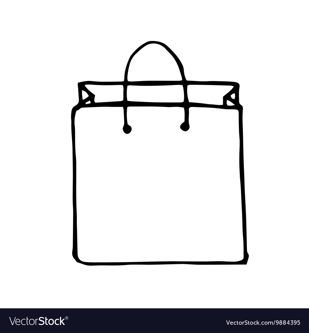 Doodle style shopping bag.