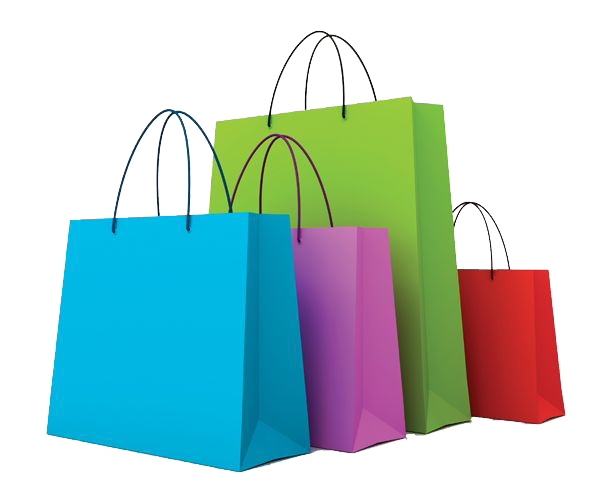 Shopping bag clipart transparent background.
