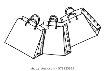 Shopping bag clipart black and white » Clipart Station.