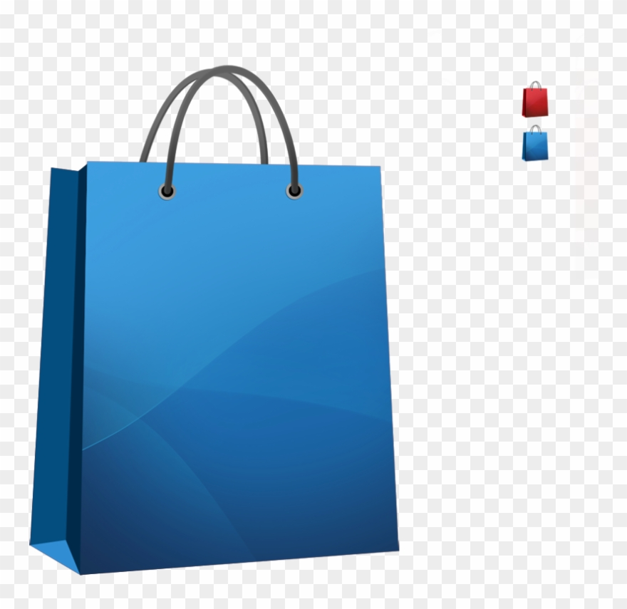 Svg Black And White Bags Clipart Blue Bag.