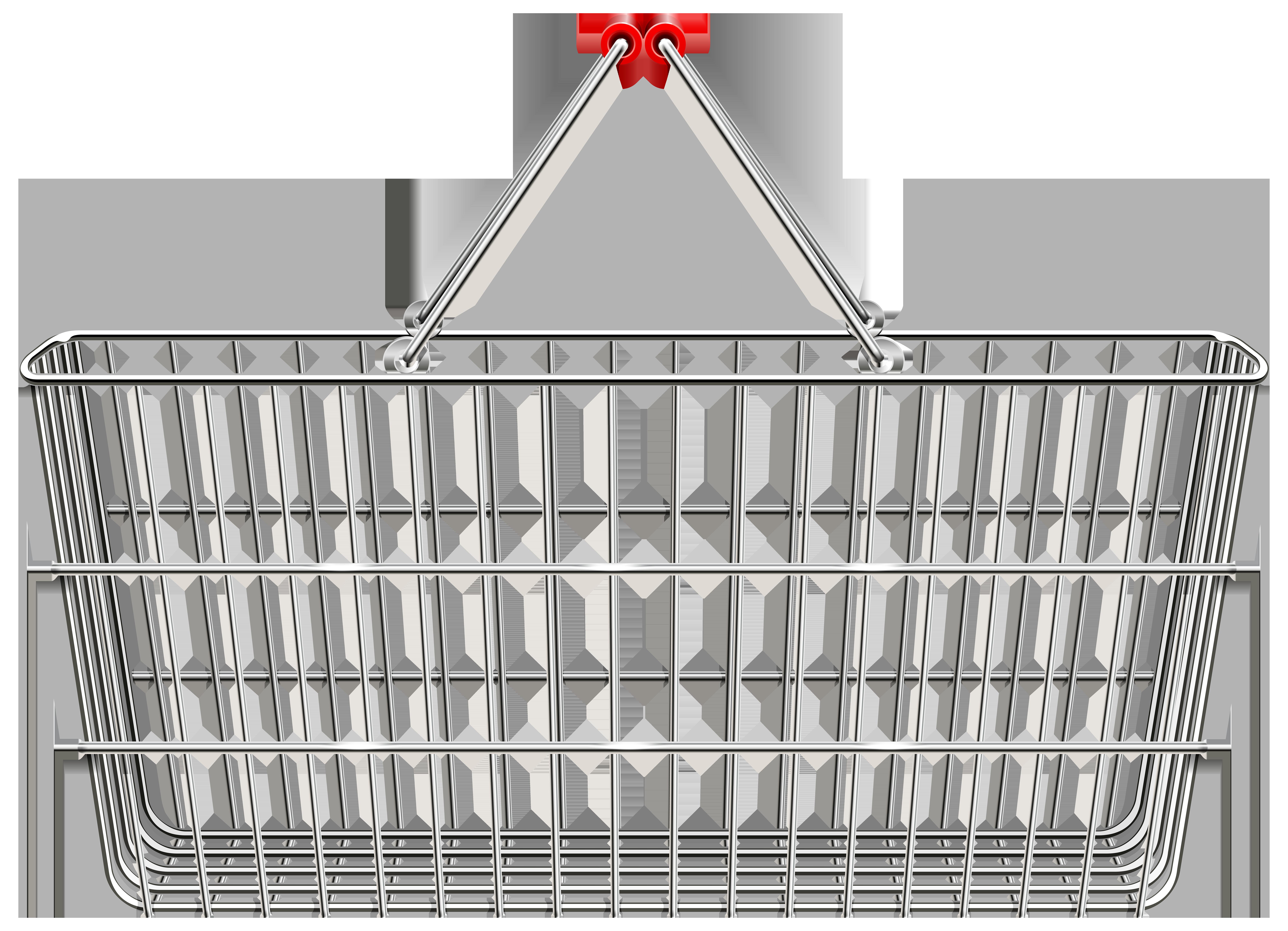 Shopping Basket PNG Transparent Clip Art Image.