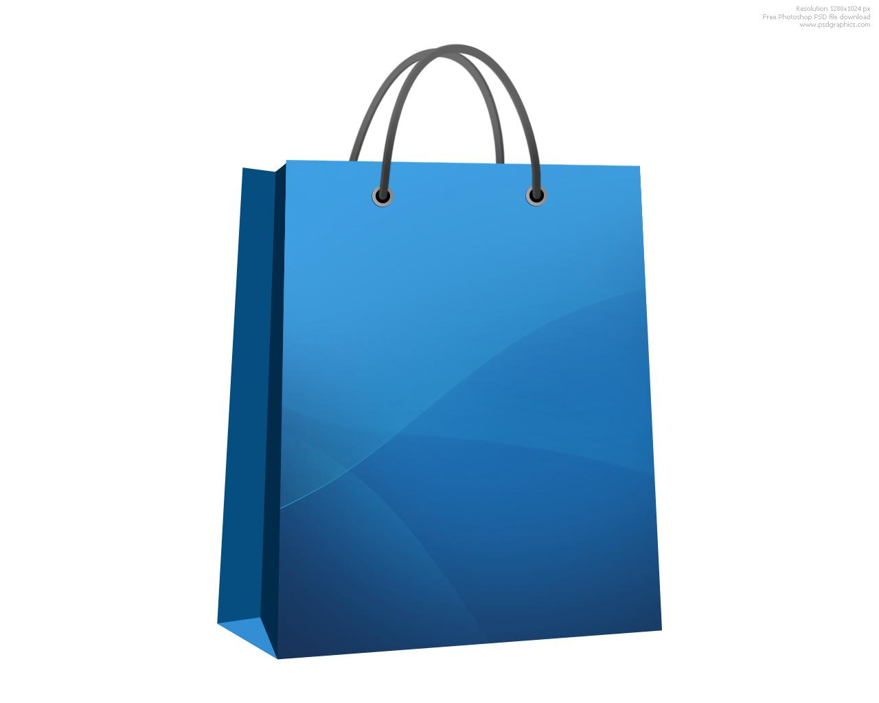 Blue Shopping Bags Clipart.