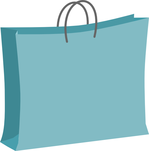 Clip Art Blue Bag Clipart.