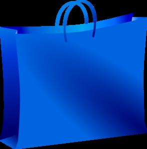 Blue Shopping Bag Clip Art at Clker.com.