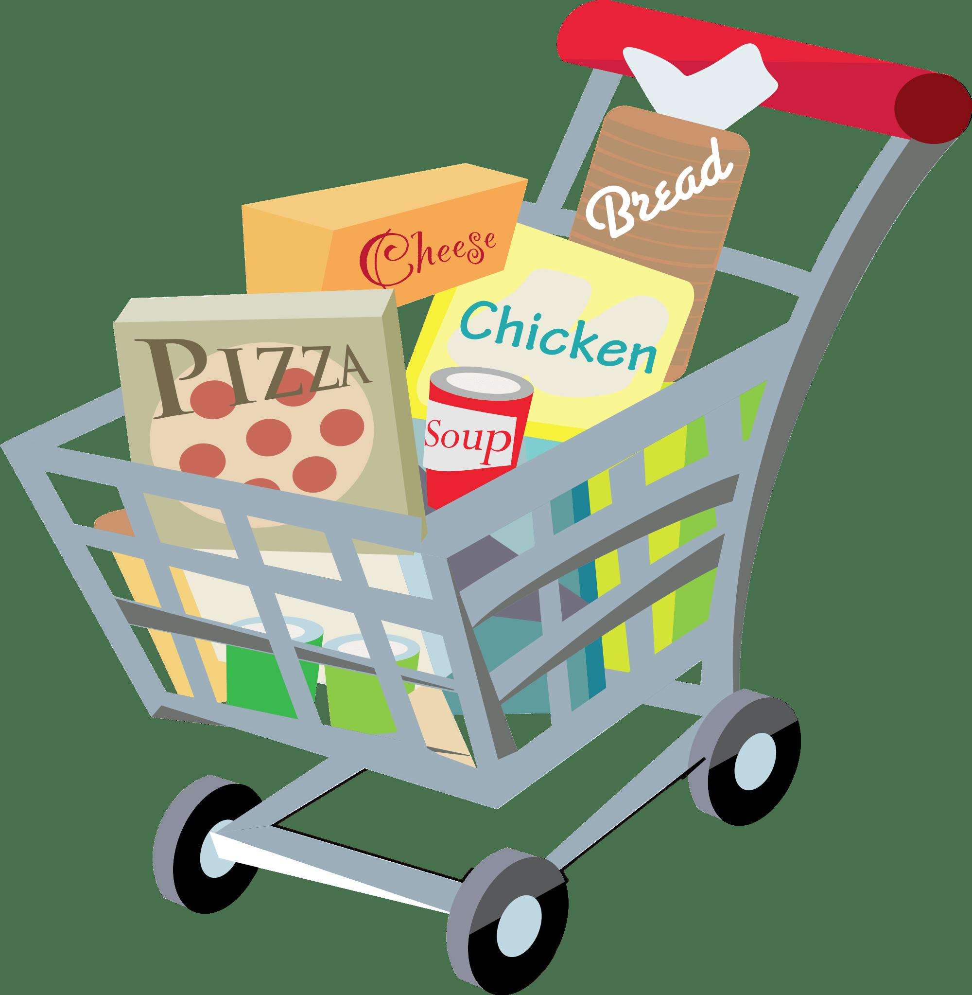 Shopping Cart Clipart transparent PNG.