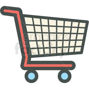 shopping cart vector icon clip art . Royalty.