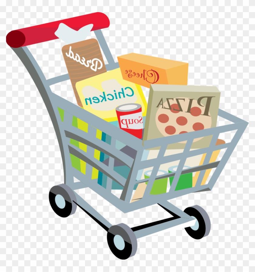 Full Grocery Cart Clipart Shopping Cart.