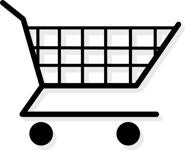 Shopping Cart clip art Free vector in Open office drawing svg.