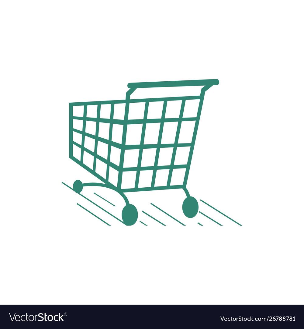A trolley shopping cart logo icon design shop.