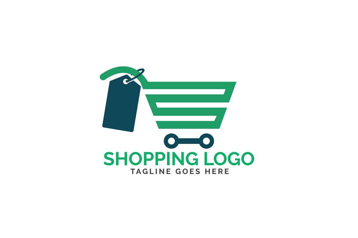 Shopping cart logo design..