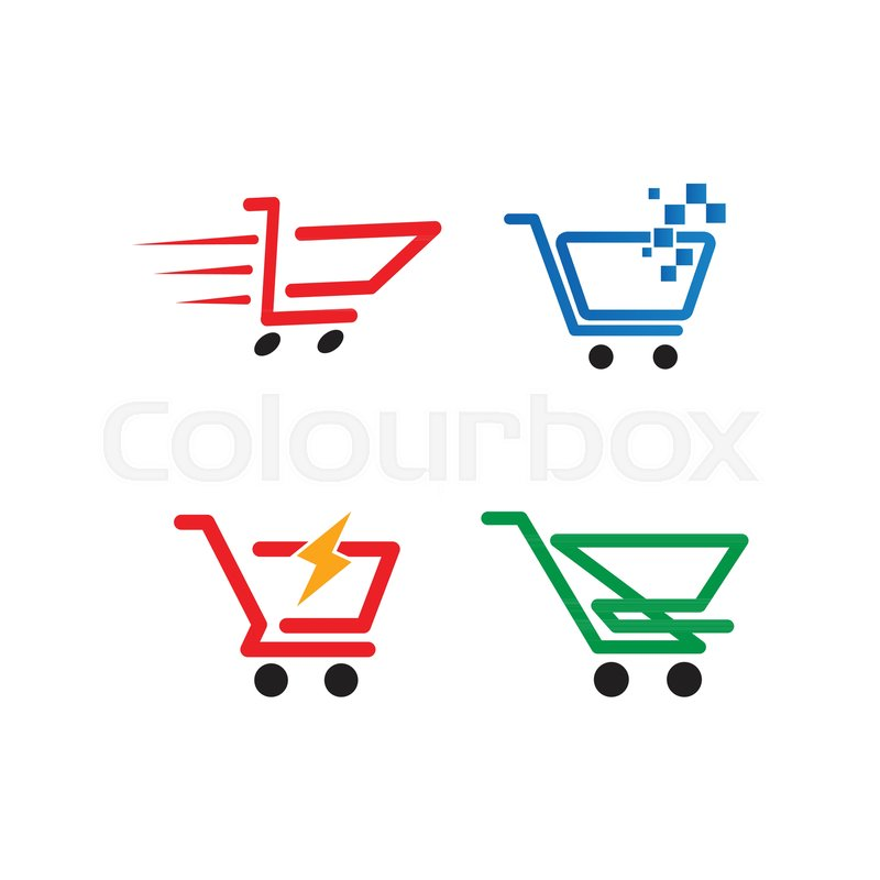 Illustration of shopping cart logo.