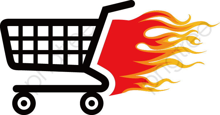 Flame Shopping Cart Icon, Shopping Cart, Flame, Shopping PNG.