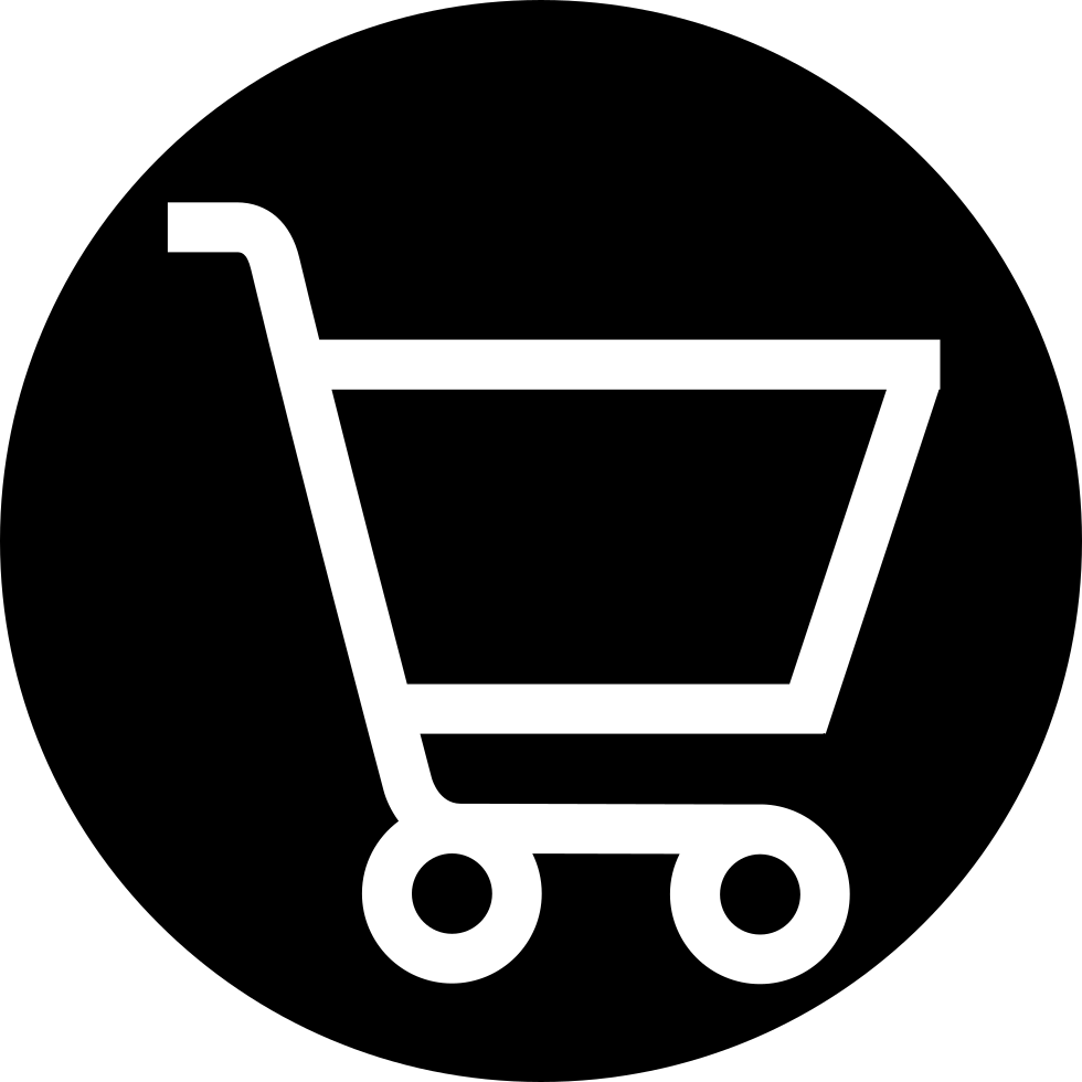 White Shopping Cart Icon Png #13540.