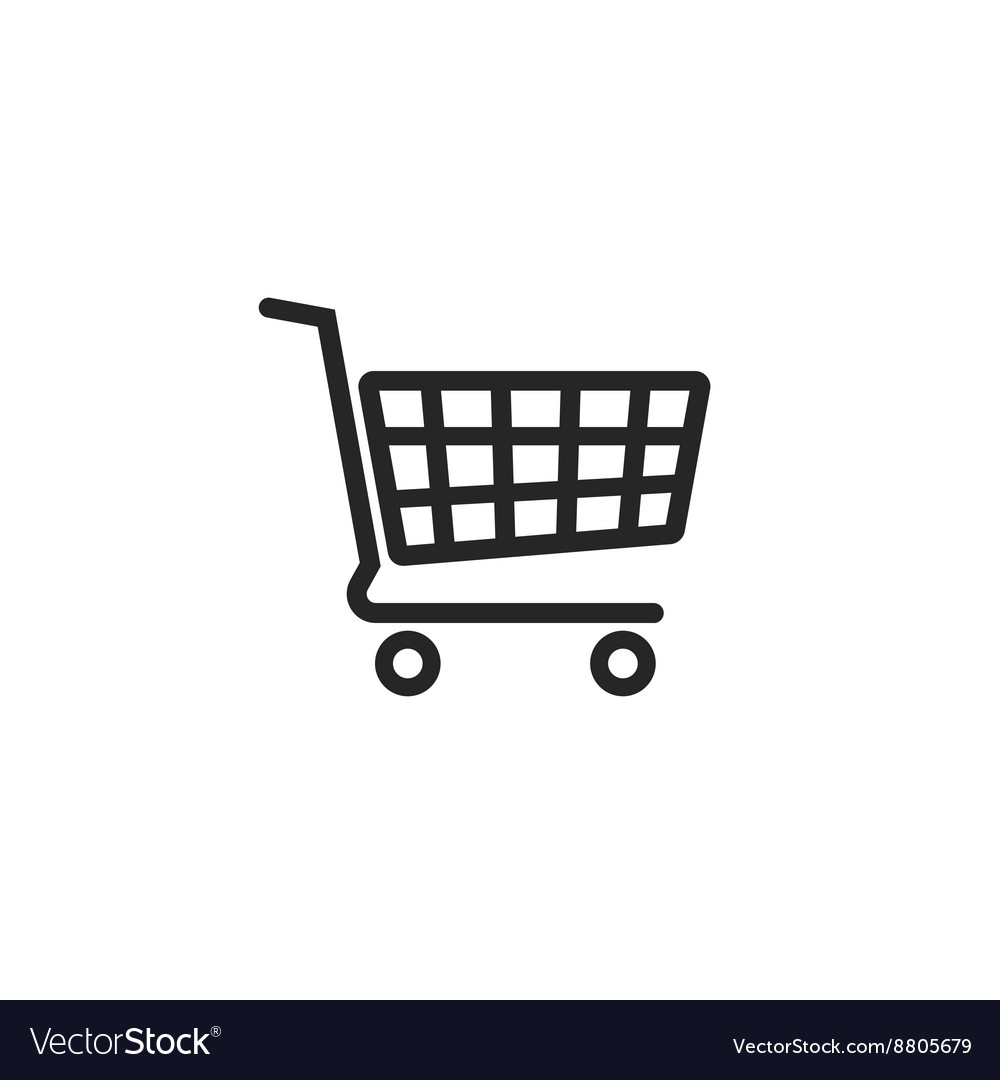 Shopping cart icon supermarket trolley.