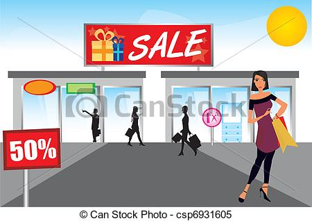 Shopping Mall Clipart.