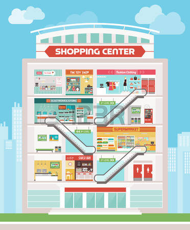 13,567 Mall Shopping Stock Vector Illustration And Royalty Free.