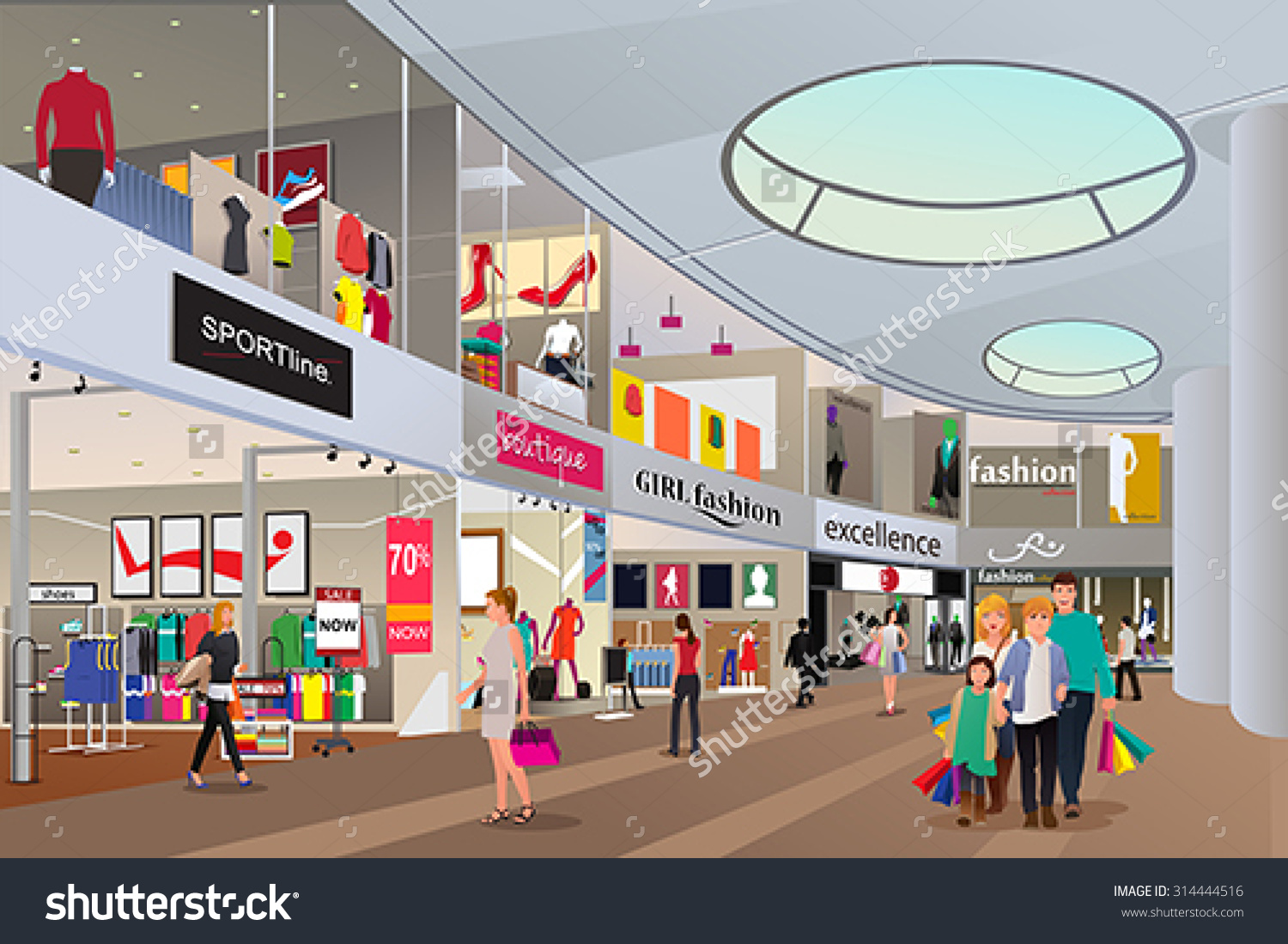 Showing post & media for Shopping center cartoon.
