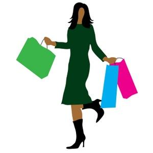 Clip Art Woman Shopping.